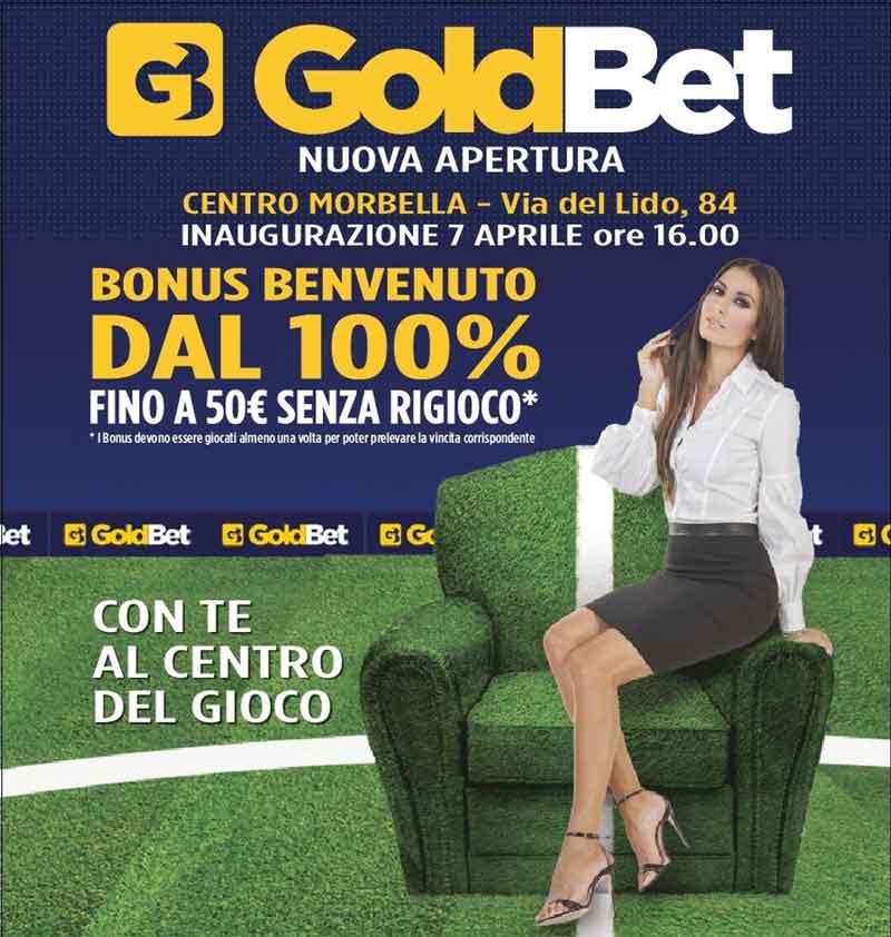 Bonus di benvenuto Goldbet app